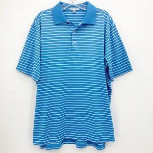 Peter Millar Striped Polo Golf Shirt Mens Large